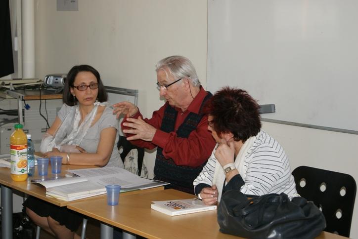 De gauche à droite, Fatima Besnaci-Lancou, Gilles Manceron et Esther Benbassa.